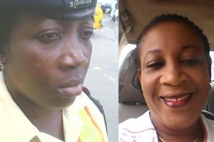 LASTMAN official Suenu Adejoke and exploited Lagosian Larry Mesh