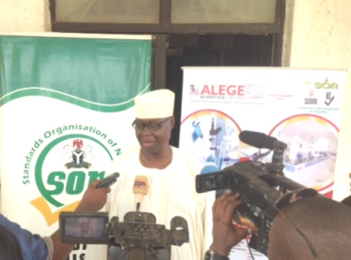 Representative of SON DG, Mr. Dauda Yakubu (Regional Coordinator SON) fielding questions from newsmen at the training