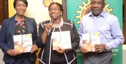 L-R: Campaign Implementation Advisor, Shell Petroleum Development Company of Nigeria (SPDC), Mrs. Darbuni Maikori; Communications  Manager, Shell Nigeria, Mrs. Sola Abulu and Corporate Media Relations Manager, Mr. Precious Okolobo.
