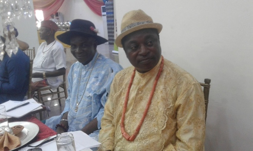 R-L UPU President Apapa branch, Mr Ovie Oghenekaro and hs Secretary Chief Ikpimi