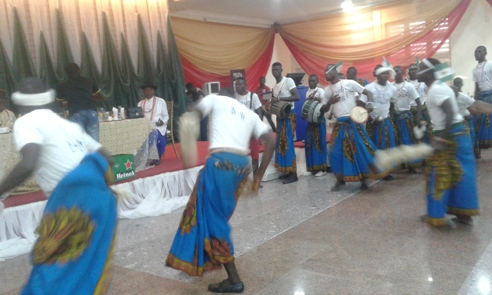 Urhobo cultural dancers in action