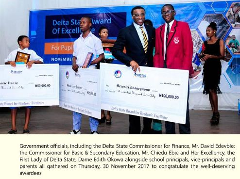 Delta Government Splashes Awards On James Hope College Agbor,Student