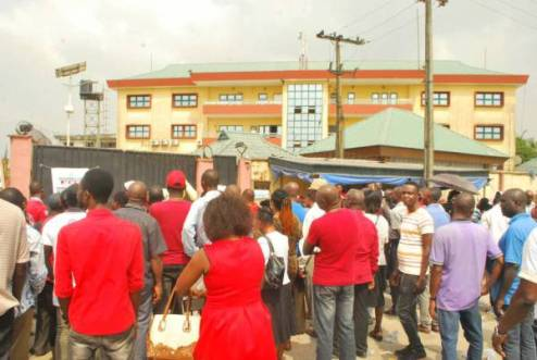 Protesting Workers Finally Shut Down DESOPADEC, Management Meetings Relocated To Lagos (PHOTO)