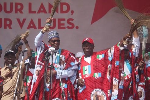 Ekiti Poll: Delta APC Congratulates Buhari, Oshiomhole, Fayemi Over Party's Victory