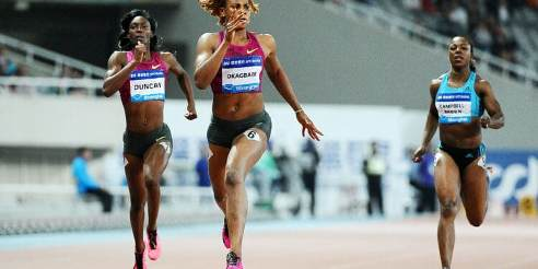 Blessing Okagbare Shines In Rabat, Wins Women's  100m Title (SEE VIDEO)