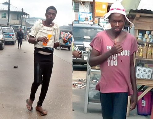 Pathetic: Two Brothers Hit By Mental Illness Found Roaming Warri Street