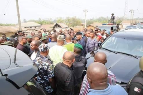 Omo-Agege Pays Unscheduled Visit To  Uwheru Kingdom Over Allege Herders Attack