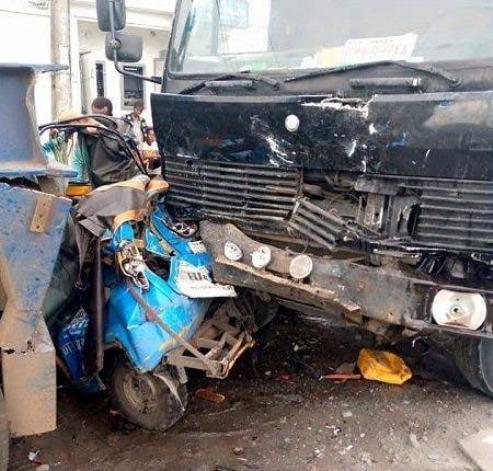 Delta: Truck Laden With Cement Crushes Teacher To Death In Effurun