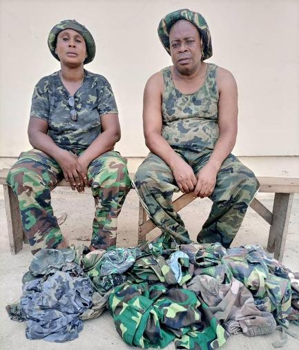 Delta Police Arrest Two  For Impersonation And Sale Of Military Uniform In Effurun