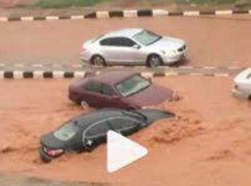 Vehicles Submerged In Mud As Flood Ravages Asaba (PHOTOS)