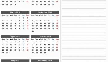 June 2019 Calendar Pdf Printable Templates