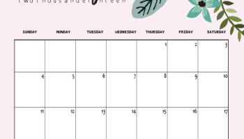 Cute March 2019 Calendar Pink Designs Floral Wall Calendar