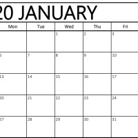 Editable January 2020 Calendar Printable Template With Holidays