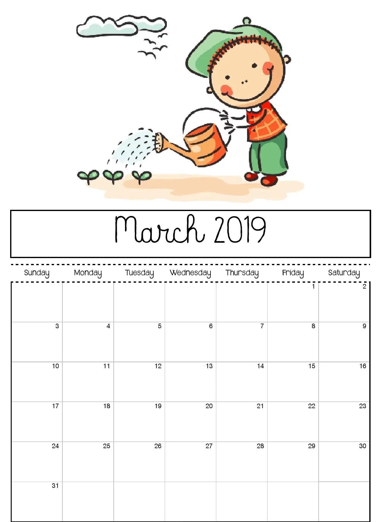 Editable March Calendar Printable Template With Holidays