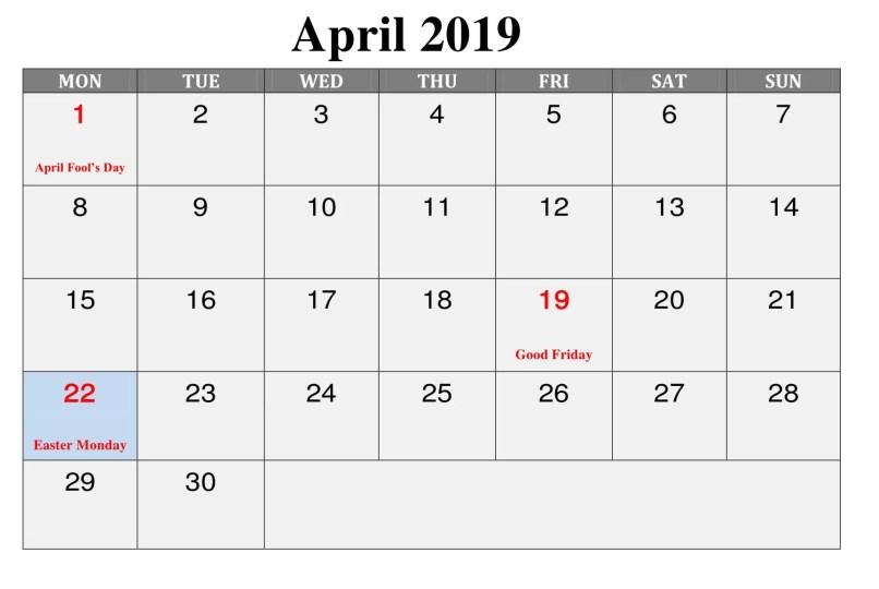 April Holidays 2019 Tourismstyle Co