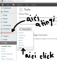 Editare tema WordPress