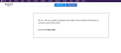 Yahoo Adblock