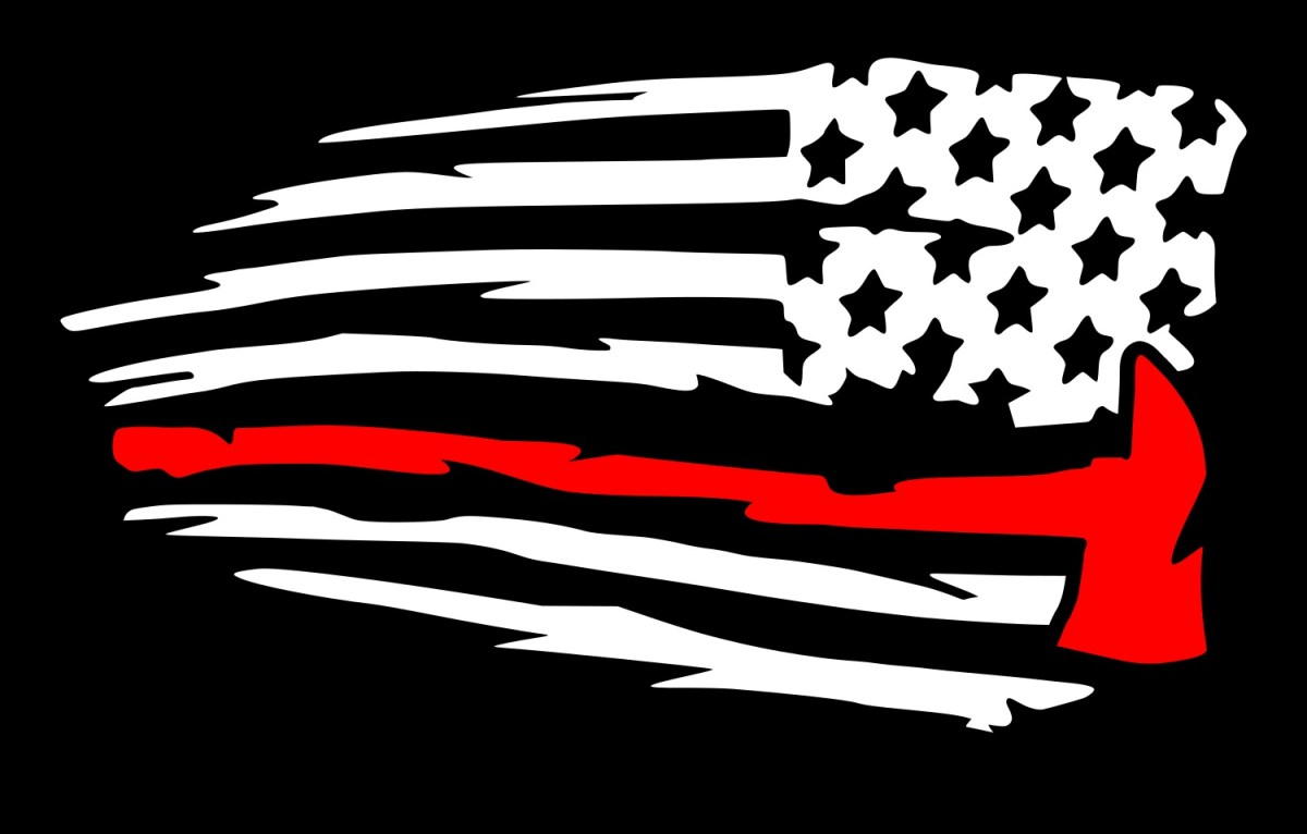Red Line American Flag >> Mirrored Thin Red Line Firefighter Axe Flag Decal – UR ...