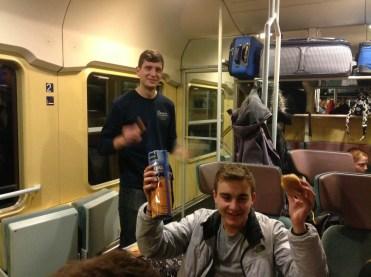 Zug nach Leipzig