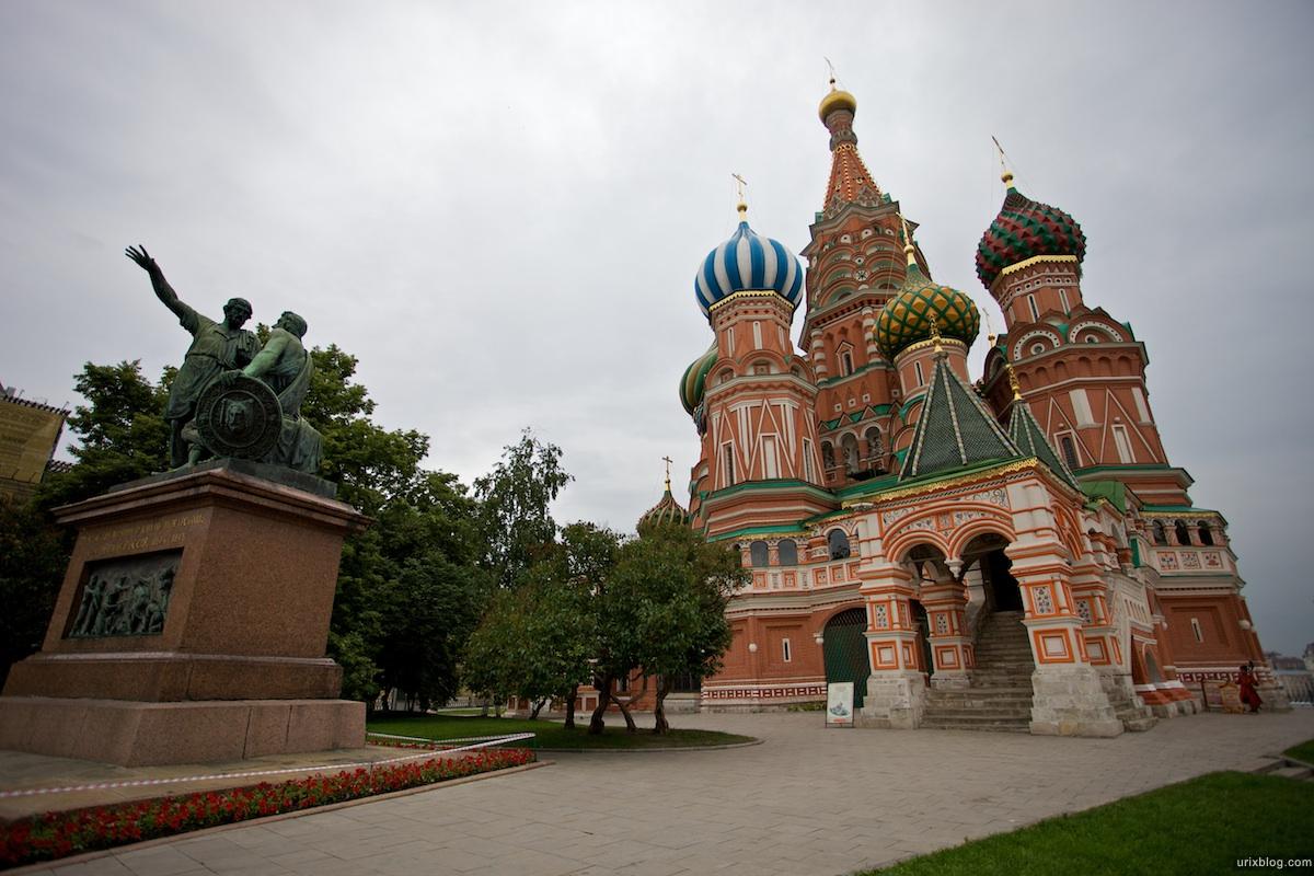 2009 Москва Памятник Минину Покровский собор Красная площадь