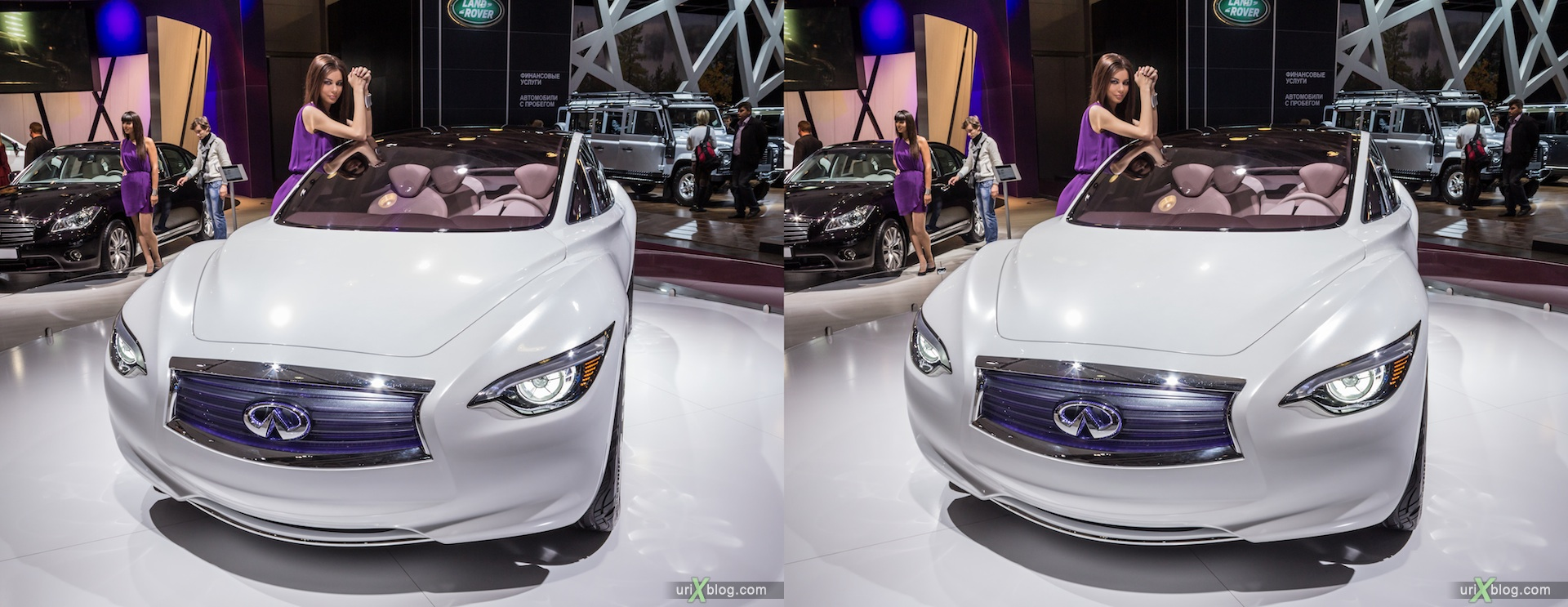 2012, Moscow International Automobile Salon, auto show, 3D, stereo pair, cross-eyed, crossview