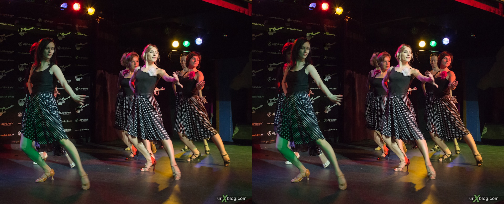 2012, dances, girls, Vesta, Airplane club, Moscow, Russia, 3D, stereo pair, cross-eyed, crossview, cross view stereo pair
