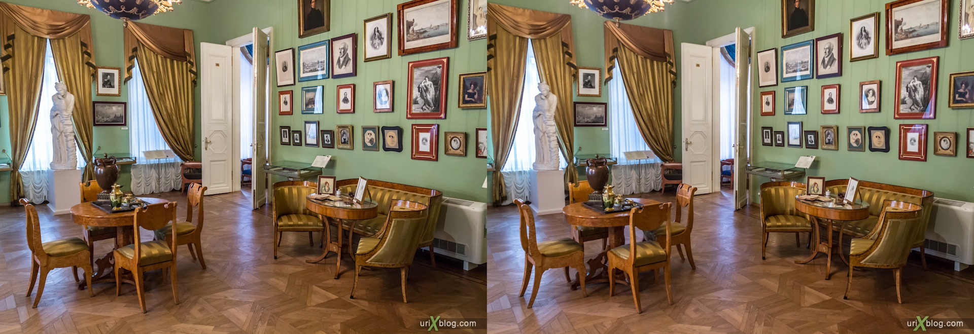 2013, Pushkin museum, estate of Khrushchev-Seleznyov, Moscow, Russia, 3D, stereo pair, cross-eyed, crossview, cross view stereo pair