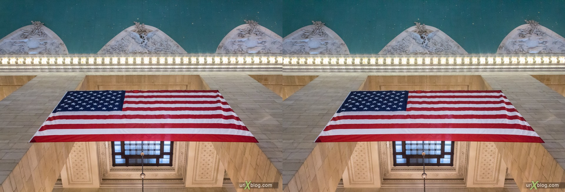 2013, Grand Central Terminal, NYC, New York City, USA, 3D, stereo pair, cross-eyed, crossview, cross view stereo pair, stereoscopic
