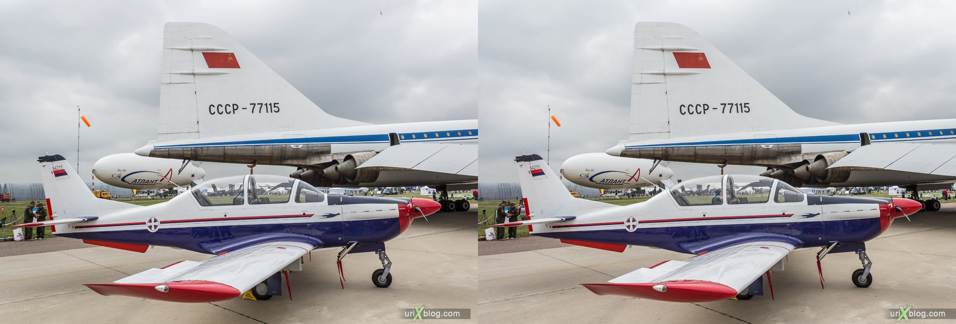 2013, Lasta-95, MAKS, International Aviation and Space Salon, Russia, Ramenskoye airfield, airplane, 3D, stereo pair, cross-eyed, crossview, cross view stereo pair, stereoscopic