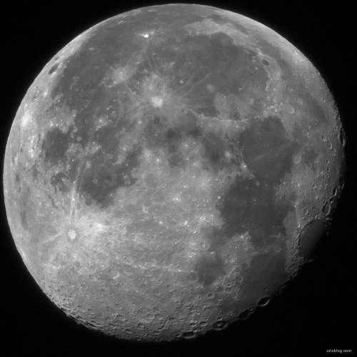 2014, Moon, Canon 600D, Samyang 800 mm mirror lens