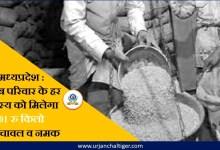 Photo of मध्यप्रदेश : गरीब परिवार के हर सदस्य को मिलेगा एक रुपये किलो गेहूं,चावल व नमक