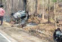 Photo of कार व बाइक की टक्कर से लगी आग पति-पत्नी की दर्दनाक मौत!