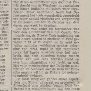 Artikel uit de provinciale  Overijsselse en Zwolsche Courant van 28 September 1940