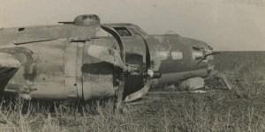 De B17G 42-37751 die nabij Urk landde op 8 oktober 1943.