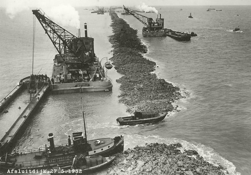 De Afsluitdijk wordt gesloten: Zuiderzee wordt IJsselmeer