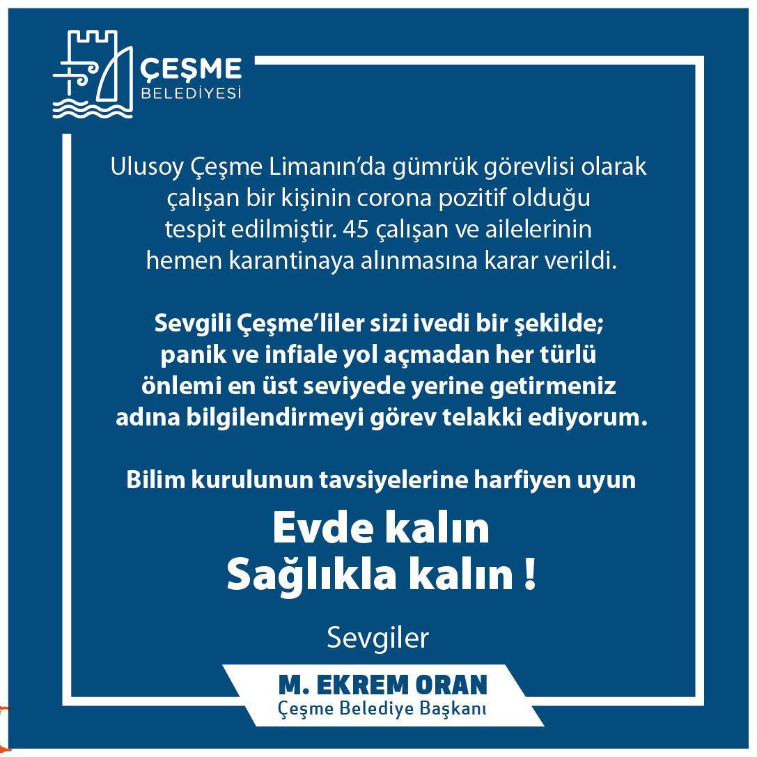 Çeşme Belediye Başkanı Oran: