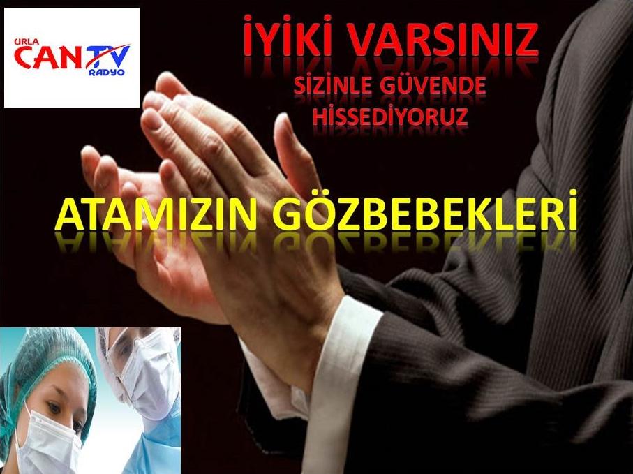 3 Gün sürecek saat 21 :00 İzmir de Sağlık Çalışanlarına Alkışlı Destek verilecek
