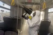 İzmirde Toplu Ulaşıma Virüs Önlemi