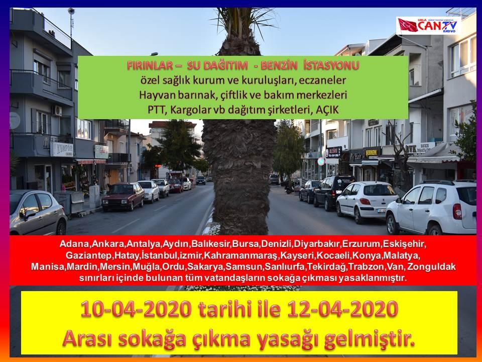 İçişleri Bakanlığı, 30 büyükşehir ile Zonguldak'ta hafta sonu sokağa çıkma yasağının getirildiğini açıkladı