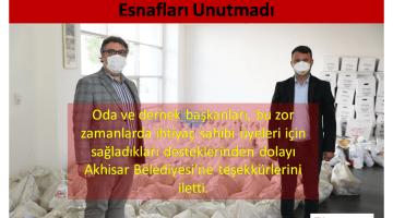 Akhisar Belediyesi Geçim Sıkıntısı Yaşayan Esnafları Unutmadı