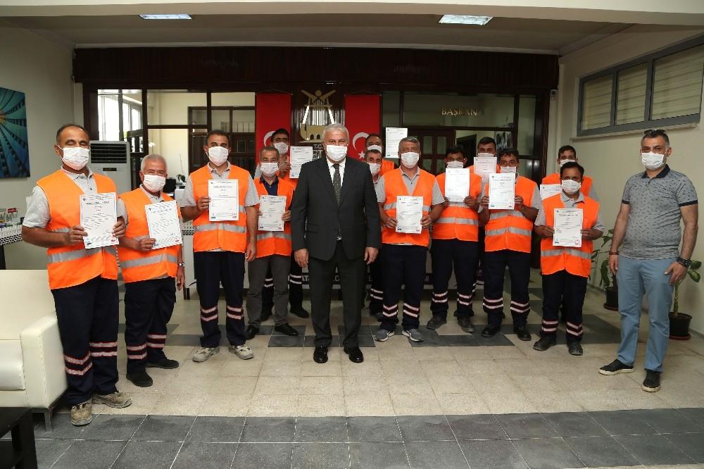 Efelerde 32 Belediye Personeli Mesleki Yeterlilik Kazandı