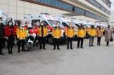 Bakanlıktan Gelen Ambulanslar Teslim Edildi