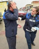 İzmirde Denetim Yapan Zabıtalara Saldırı
