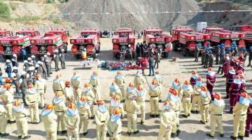 Aydın'da, yangın söndürme ekipleri işbaşı eğitimi aldı