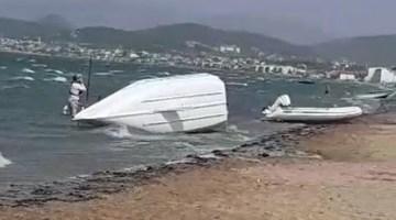 İzmir'i fırtına vurdu