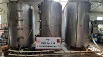 Sahte sıvı yağ imalathanesine baskın