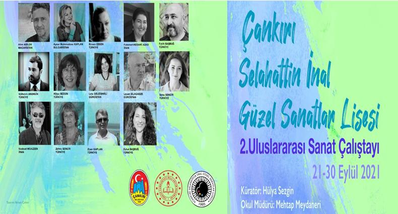 Hülya Sezgin'den Çankırı Selahattin İnal Güzel Sanatlar lisesi'nde ikinci uluslararası resim çalıştayı