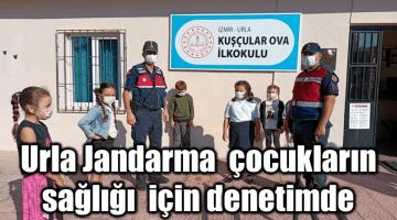 Urla Jandarma çocukların sağlığı ve güvenliği için denetimde