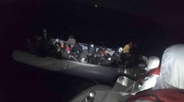 İzmir açıklarında 38 düzensiz göçmen yakalandı