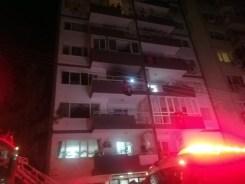 9 Katlı Binanda Korkutan Yangın